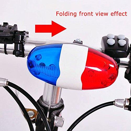 Ndier Campana Eléctrica para Bicicleta, Luces a Batería Campana de Cuerno Sirena de la Policía para Bicicleta