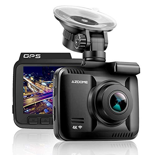 AZDOME Dash Cam Built in GPS WiFi, 2160P HD Dashboard Car Camera, Night Vision Driving Recorder Whit G Sensor, WDR,170° Wide Angle, Loop Recording, Parking Monitor