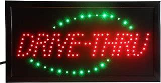 CHENXI LED Drive-Thru Shop Open Sign Special Offer Graphics Ultra Bright Flashing 10 x19 Inch(48X25 cm) Store Signboard (48 X 25 cm, Drive-Thru)