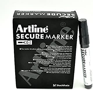 Secure Marker Redacting Pen | Blackout Marker | Blacks Out Private Information (12 Markers)