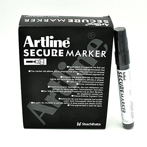 Artline Secure Marker 4.mm Chisel EKSC-4 (12 Pack)