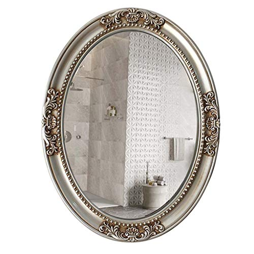YJXJJD European Minimalist Oval Art Bathroom Mirror Bathroom Mirror Bathroom Mirror Frame -