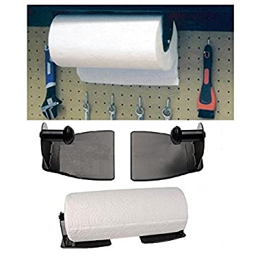 Magnetic Paper Towel Holder - Heavy Duty Steel Holder With Magnetic Backing That Sticks To Any Ferrous Surface; Great For Kitchen. Work Benches, Storage Closets, Grill Or In The Garage.- By Katzco.