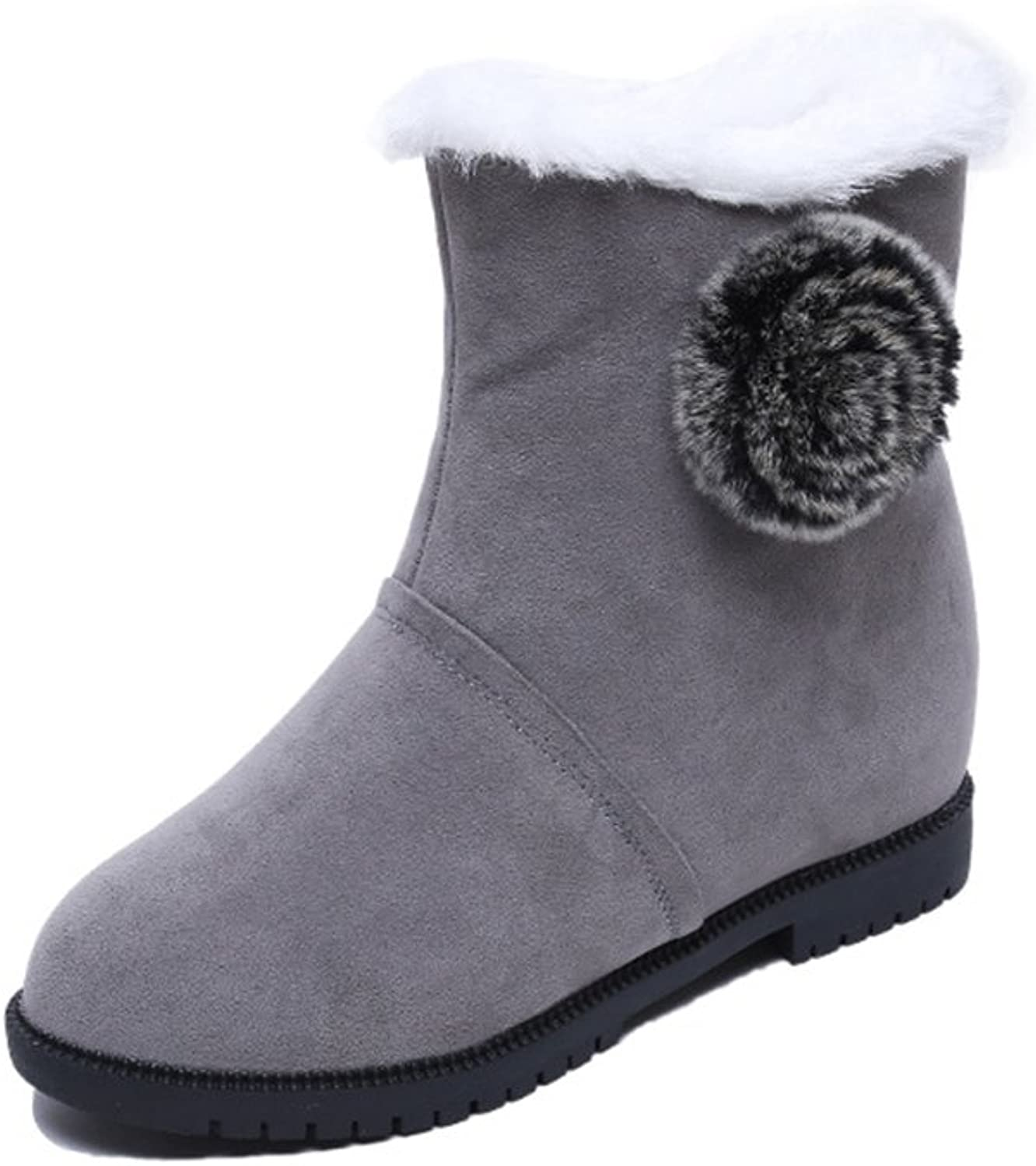 New Year Women's Classic Winter Snow Low-heel Pull-on Type Fleece Lining