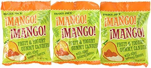 Trader Joe's Mango! Mango! Fruit Yogurt Gummies Pack of 3