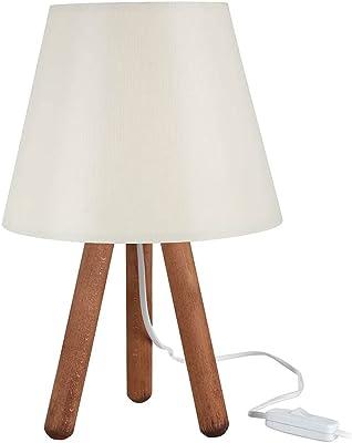 Lampe de table en bois de style minimaliste, 1 lampe de table Nature Design pour chambre à coucher, bureau, studio, salon
