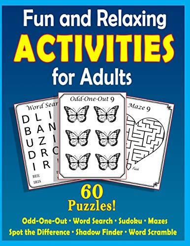 Fun and Relaxing Activities for Adults: Puzzles for People with Dementia [Large-Print] (Best Gifts for People with Dementia)