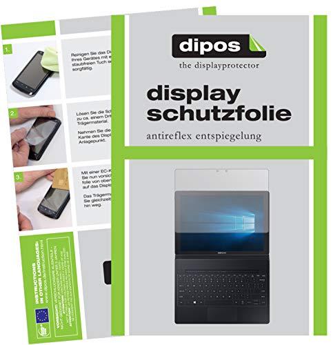 dipos I 2X Schutzfolie matt kompatibel mit Samsung Galaxy Tab Pro S (12 Zoll) Folie Displayschutzfolie
