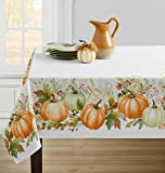 Benson Mills Autumn Gathering Printed Spillproof Tablecloth for Thanksgiving, Harvest and Fall (Autumn Gathering, 60' X 104' Rectangular)
