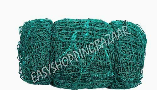 Easyshoppingbazaar Anti Bird Net/Garden net Color Green 6x10 Foot (60 sq ft,25 mm Hole), with Required Installation Clips