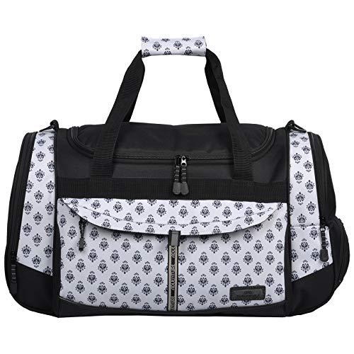 Keanu Adventure - Bolsa de deporte para hombre y mujer * muchos compartimentos para zapatos, bolsillos laterales * 45 litros bolsa de deporte sauna, bolsa de viaje, New White Paisley (Blanco) - 723