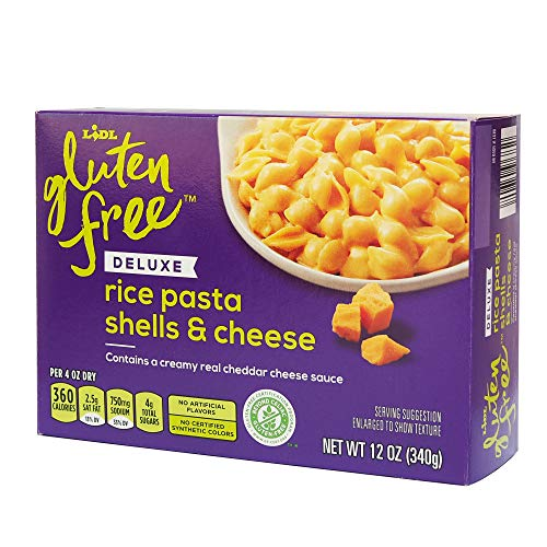 Lidl Gluten Free Deluxe Shells & Cheese (Rice Pasta with Creamy Real Cheddar Sauce) - 12 oz