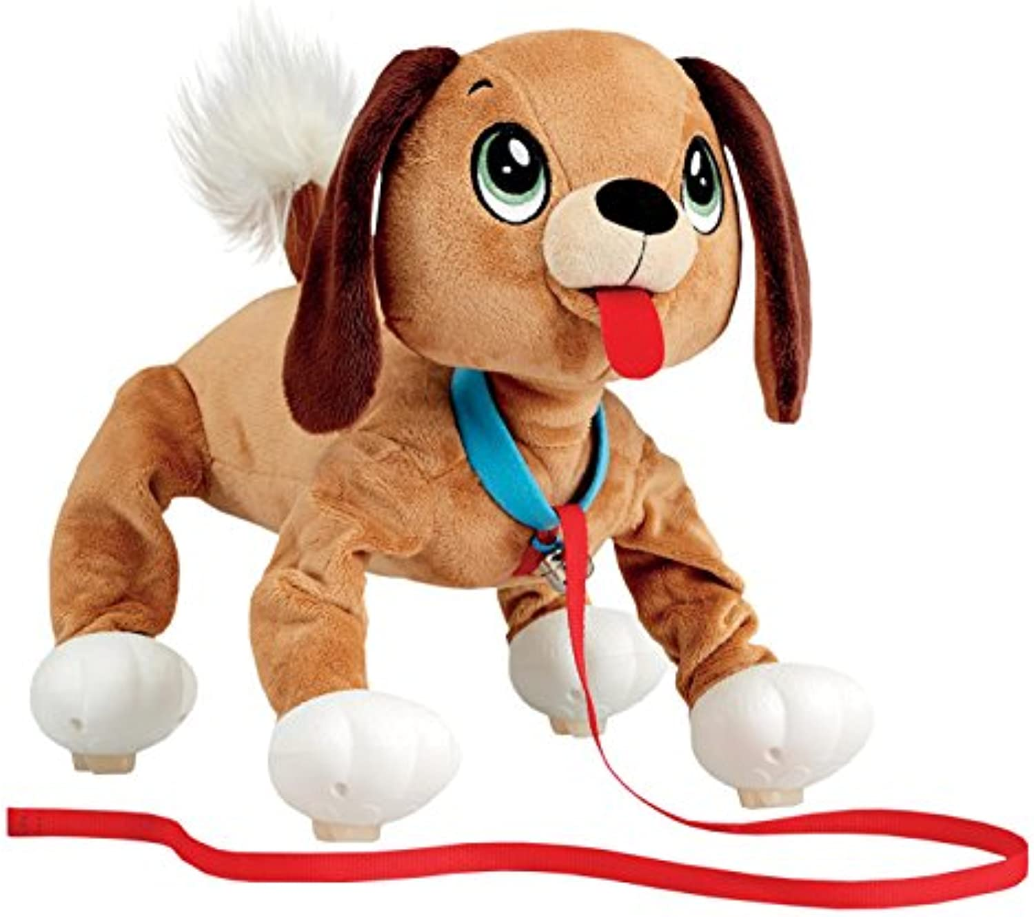 Peppy Pups - Stuffed Plush Dog That Walks Along With You - Kid Powerot Dog Toy Includes Collar and Leash by Peppy Pups