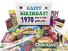 50TH BIRTHDAY CANDY ASSORTMENT: Contains 30 different kinds of retro candy; brings back fun memories of childhood with a candy mix that ranges from Fun Dip and Jawbreakers to Zotz and much more FUN AND UNIQUE GIFT: Great way to celebrate a special ye...