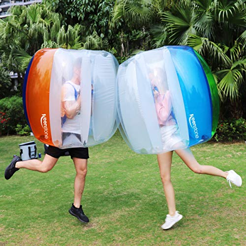 Keenstone (Two Bumper Balls) Inflatable Bumper Ball 1.2M/4ft 1.5M/5ft Diameter Bubble Soccer Ball Blow Up in 5 Min Inflatable Bumper Bubble Balls for Adults