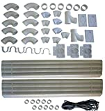 ZVac Compatible Installation Kit Replacement for All Central Vacuum 88 feet of Pipe Fits Nutone, Beam, Eureka,...