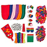 Bright Creations Felt Hand Puppet Kit for Kid's DIY Crafts (848 Pieces for 6 Puppets)