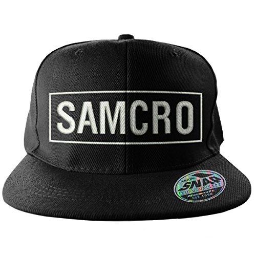 Sons of Anarchy Officiellement Marchandises sous Licence Samcro Brodé Taille Ajustable Snapback Casquette (Noir)