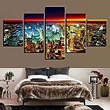 Peinture sur toile HD imprime décor à la maison 5 pièces seigneur des anneaux château mur Art modulaire jeu oeuvre pour chambre affiche 150x80cm