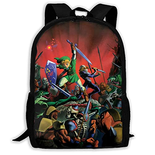 Print Stylish Backpack For College Teens Girls Boys Anti-Theft School...