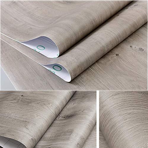 Decorativo gris roble mesa papel de contacto - Vinilo autoadhesivo para maletero para cuarto de baño de cajón gabinetes de cocina estantes de madera artes y oficios para 60 x 300 cm