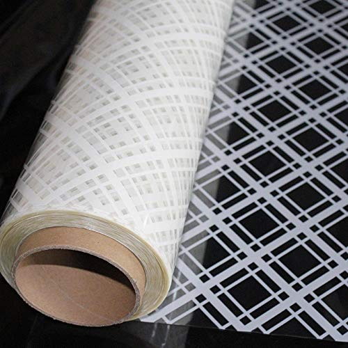 90cmx3000cm White Square pattern Window Film white Cross Adhesive Frosted Removable Decorative Glass Window Sticker