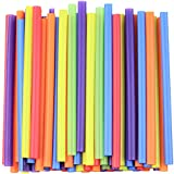 [100 Count] Jumbo Smoothie Straws - 8.5' High - Assorted Colors