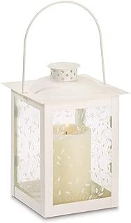 Tom & Co. 10 Wholesale Large Ivory Color Glass Lantern Wedding Centerpieces
