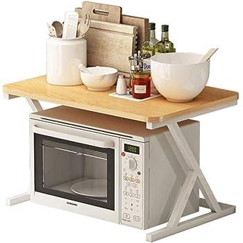 JSY Forno a microonde mensola Rack Forno Integrato-Libera a Un Foro della Cucina della casa Desktop di Storage Rack 2 Strati Piccoli Porta Utensili da Cucina