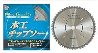 iHelp(アイヘルプ) 木工用チップソー 外径:190mm×1.6mm×52p IH-632