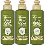 Garnier–Ultra DouxOlive Mythique - Crema nutritiva sin aclarado para cabellos secos Nutrition Extrême –Lote de 3