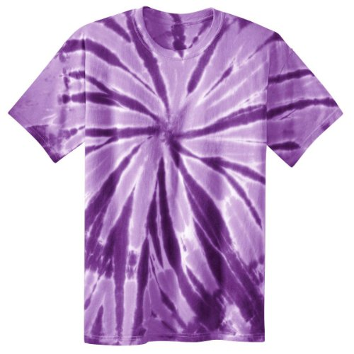 Port & Company Boys' Essential Tie Dye Tee M Purple
