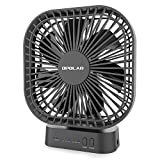OPOLAR Battery Operated Fan, 5000mA Rechargeable Battery Powered Fan, Strong Wind but Quiet, Timer Setting, USB or Battery Powered for Office or Outdoor, Small Mini Personal Desk Fan
