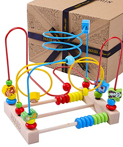 Deluxe Activity Cube | Ultimate Bead Maze | High Quality Wooden Activity Cube | Excellent Animal Toys Beads | Revolutionary Abacus for Kids | Sustainable Wooden Toys for 1 2 3 Year Olds | Since 1795