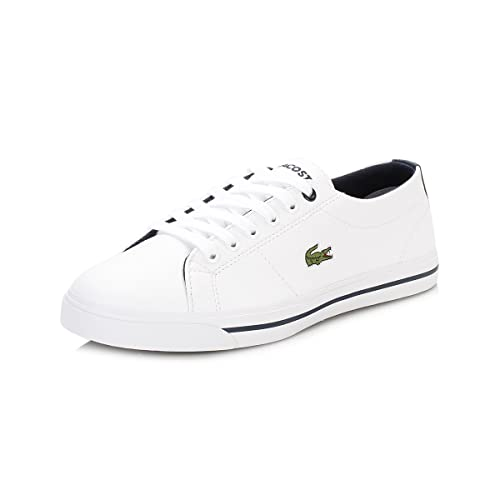 de3f0da5f Lacoste Junior Boys Riberac Trainers in White Navy- Lace Fastening- Tonal