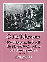 TELEMANN - Trio Sonata en Fa menor (TWV:42/f 1) para 2 Violines (2 Flautas) (2 Oboes) y Piano (Michel)