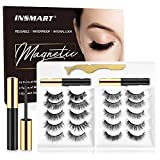Magnetic Eyelashes and Magnetic Eyeliner Kit - 2 Tubes of Magnetic Eyeliner & 10 Pairs Different Style of Magnetic Eyelashes, Upgraded 3D 5D Magnetic Eyelashes Kit with Tweezers, Reusable, No Glue