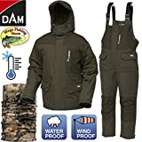 Dam Xtherm Thermo Anzug - Winter Thermoanzug - Outdoor Angelanzug - Jacke & Hose - Winddicht & Wasserdicht (XXL)