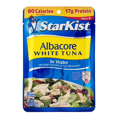 StarKist White Albacore Tuna Pouch in Water, 2.6 Ounce (Pack of 24)