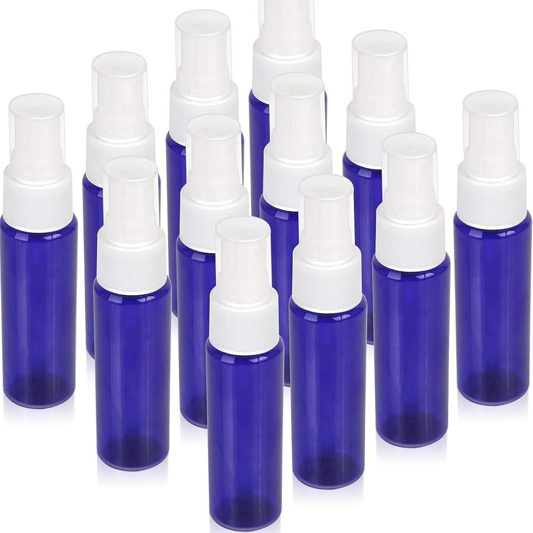 ビジター整理する消毒剤Teenitor スプレーボトル 30ml 12本 霧吹き アトマイザー スプレー容器 アロマスプレー 香水スプレー 詰め替え容器 キャップ付 青色 PET製