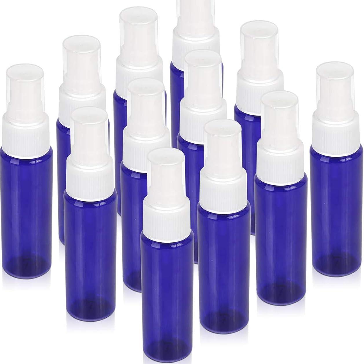 キウイ贅沢な部屋を掃除するTeenitor スプレーボトル 30ml 12本 霧吹き アトマイザー スプレー容器 アロマスプレー 香水スプレー 詰め替え容器 キャップ付 青色 PET製