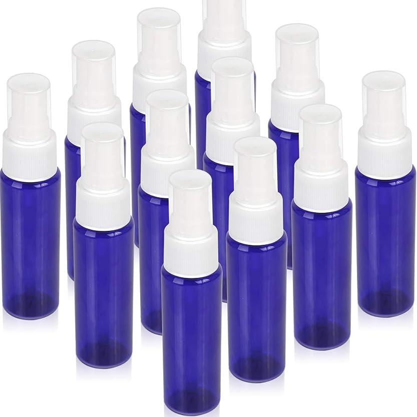 分離別に痛みTeenitor スプレーボトル 30ml 12本 霧吹き アトマイザー スプレー容器 アロマスプレー 香水スプレー 詰め替え容器 キャップ付 青色 PET製