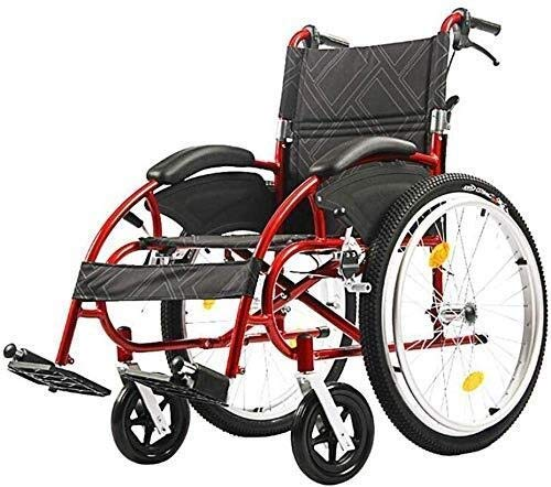 N/Z Living Equipment Wheelchairs Sports and Leisure Wheelchairs Lightweight Folding Ergonomic Comfortable Armrest Backs Large 24 inch Back Wheels 46Cm Wide Seat