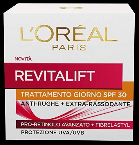 L Oréal Paris Crema Viso Giorno Revitalift, Azione Antirughe con Pro-Retinolo Avanzato, Protezione Solare SPF 30, 50 ml