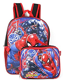Spiderman Marvel 16  Backpack with Detachable Lunch Box