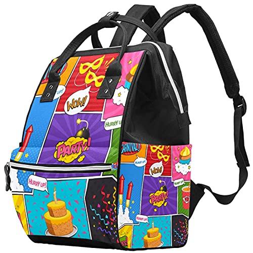 WJJSXKA Mochilas Bolsa de pañales Laptop Notebook Mochila de viaje Senderismo Daypack para Mujeres Hombres - tortas