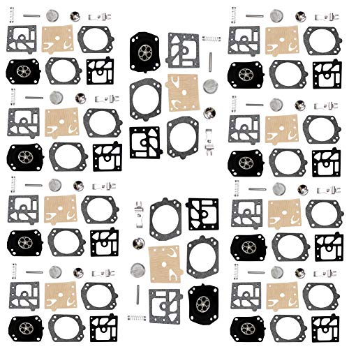 QAZAKY 10 set vergaser membran rebuild reparatursatz ersatz für walbro k24hda husqvarna 350 351 353 357 359 357xp 359epa xp epa hda typ carb 171 174 175 181 182 190 191 198 199 k24hda