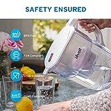 Levoit LV110WP-3X kanne wasserfilter krug wasserreiniger, BPA-frei und lebensmittelechter Kunststoff, weiß, 27cm × 14cm × 25cm - 2