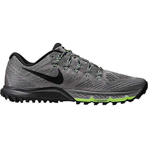 Nike Air Zoom Terra Kiger 3 Trail Running Shoe - Mens Cool Grey/Anthracite/Ghost Green/Black, 7.0