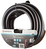 Gardena Sauggarnitur 7 m: Robuster Saugschlauch zum Anschluss an die Gartenpumpe, mit Saugfilter und Rückflussstop, Durchmesser 25 mm (1418-20)